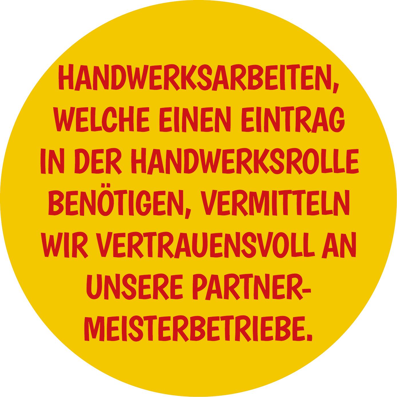 Handwerkerleistungen
